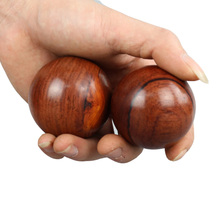 2 pcs Wood Fitness Ball Massage GYM Ball Health Meditation Exercise Stress Relief Baoding Balls Relaxation Therapy