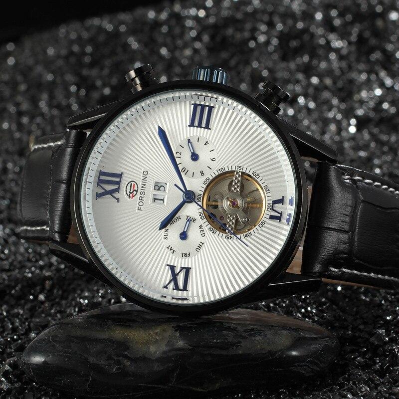 Forsining Tourbillon Watches Mens Luxury Brand Mechanical Watch Male Leather Wristwatch Men Sport Ceasuri Saat Relogio Masculino<br>