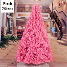 7 Sizes Pink Christmas Tree Christmas Party Decoration for Home Christmas Decorations Supplies Festival Party Ornament MCC294(China)