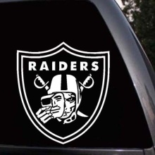 Car Styling For Oakland Raiders Nation Skull Face Logo Car Window Truck Laptop Decal Sticker