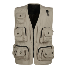 Fashion Vests For Men Wholesale Men's Multi-pocket Photography Vest Men Casual Reporter Director Military