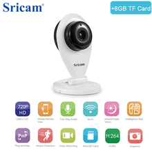 Sricam SP009 HD 720P Mini Wifi IP Camera Wireless P2P Baby Monitor Network CCTV Security Camera with IR-cut(China)