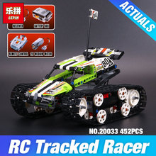 New Lepin 20033 Technic Series The RC Track Remote-control Race Car Set Building Blocks Bricks Educational Children 42065 Toys(China)