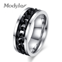 Modyle 2017 New Fashion Men's Ring Accessories Jewelry Stainless Steel 3 Colors Finger Rings for Men