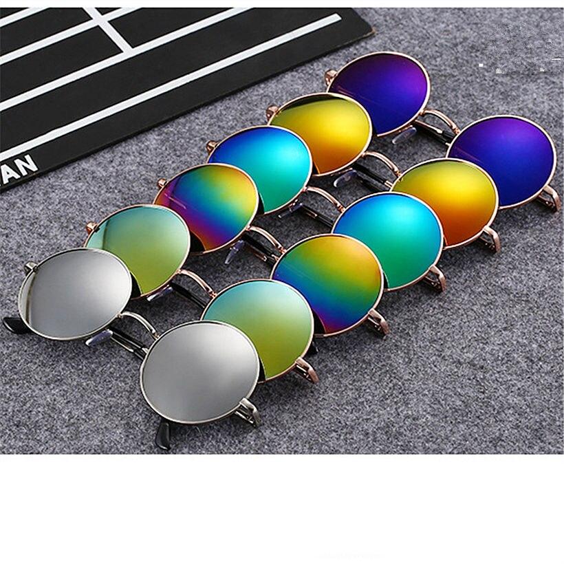 Round Sunglasses Women Men Brand Mirrored Glasses Retro Female Male Sun Glasses Mens Womens<br><br>Aliexpress