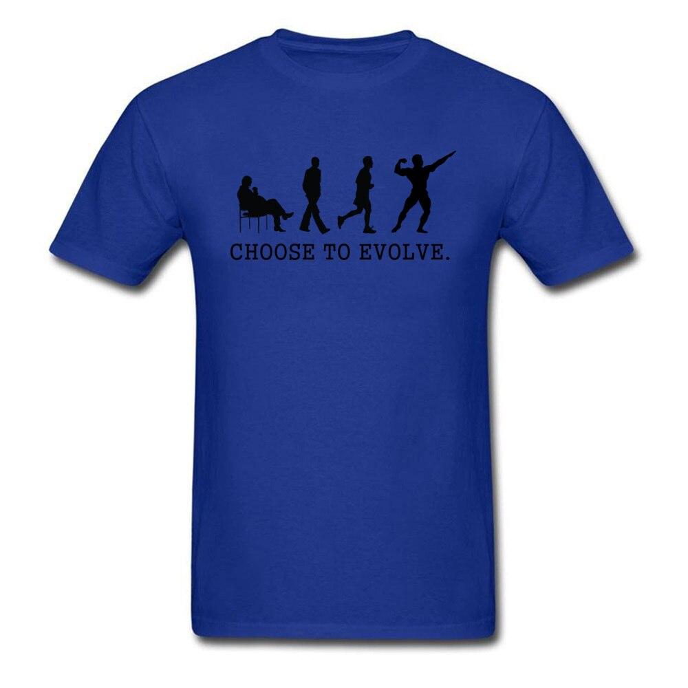 Choose to Evoe Tops Shirt Fashion O-Neck Printed Short Sleeve 100% Coon Fabric Student T Shirt Design Tee Shirts Choose to Evoe blue