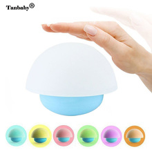 Tanbaby Touch Sensor Colorful Night light Silicon Cute Mood Night Lamp LED Bedside Lights for Baby Children bedroom(China)