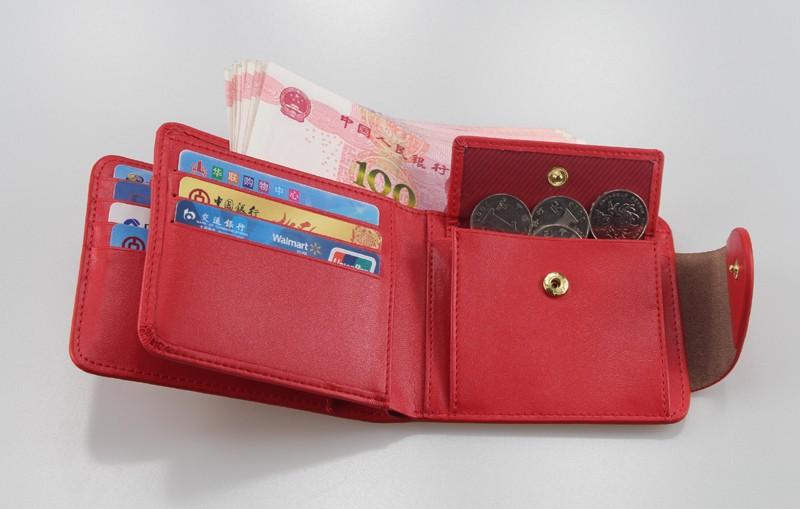 HTB1yAsQLFXXXXXbXVXXq6xXFXXXA - Harrm's Brand Classical Fashion genuine leather women wallets short red blue Color female lady Purse for women with coin pocket