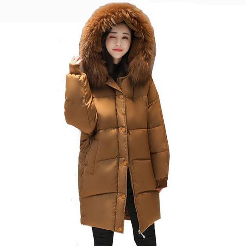 winter coat women large artificial fur collor hooded warm plus size long winter jacket women parka free shipping bread cottonÎäåæäà è àêñåññóàðû<br><br>