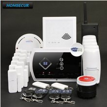 HOMSECUR Wireless GSM SMS Autodial Home Security Alarm System with Signal Repeater(China)
