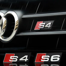 Auto decal modified accessories 3D S3 S4 S5 S6 S8 Logo Car Styling Front Hood Grille Emblem Badge Sticker for Audi