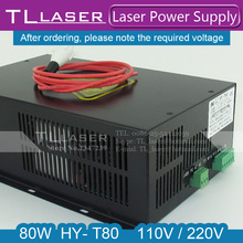 HY - T80 80W CO2 Laser Power Supply 110V / 220V High Voltage For Engraving Cutting Machine Matched With Laser Tube Year Warranty