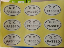Free Shipping Self-adhesive 13x9mm QC passed paper for Quality Inspection QC passed stickers product labels1000pcs/lot
