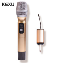 KEXU 1 Way 8 channel Metal Handheld Transmitter Wireless Mic Microphone Camera Microphone Party Karaoke Skype Microphone