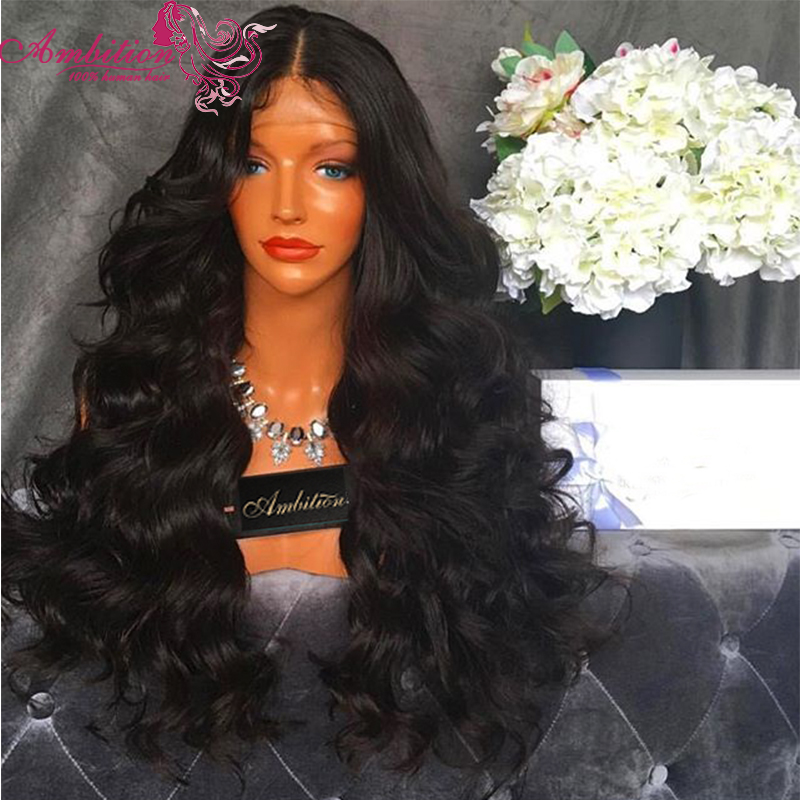 Large Stock Full 180% Density Vigin Brazilian Human Hair Lace Front Wig Wavy Human Hair Full Lace Wigs 28 Inches Human Hair Wigs<br><br>Aliexpress