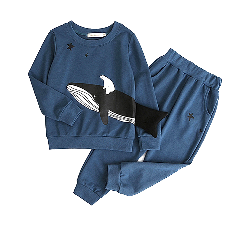 Children Clothes Sets 2pcs T-shirt+pants Cotton Casual Baby Boys Girls Suit Set Long Sleeve Baby Boy Outfit Set Toddler Clothing
