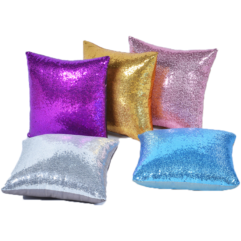 Pillowcase-Solid-Color-Glitter-Silver-Sequins-Bling-Throw-Pillow-Case-Pillowcover-for-Sofa-Home-Decor-Cushion