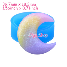 PYL595 39.7mm Crescent Flexible Silicone Mold - Moon Mold Fondant, Cake Decoration, Resin Jewelry Making, Chocolate, Gum Paste(China)