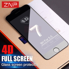 Buy ZNP 4D Full Cover Tempered Glass iPhone 7 &7 7S Plus 4D Curved Edge Screen Protector Film iPhone 6 6S Plus 7 plus glass for $4.22 in AliExpress store