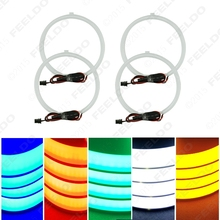 4x127.5mm Soft Cotton LED Light Angel Eyes Halo Ring Daytime Running Light DRL Kit 5-Color Optional For BMW E30/E32/E34/E39OEM