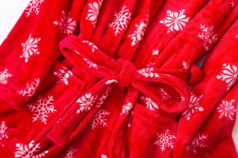 flannel nighgown women red (2)