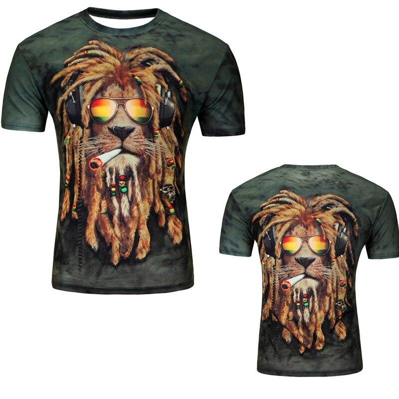 12 Color 3d print Lightning cat t shirt 9