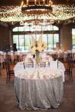"132""-Round Sequin Table Cloth, Sliver Round Sequin Table Overlay, 330cm Sequin Table Curtain for Dancing Banquet(China)"