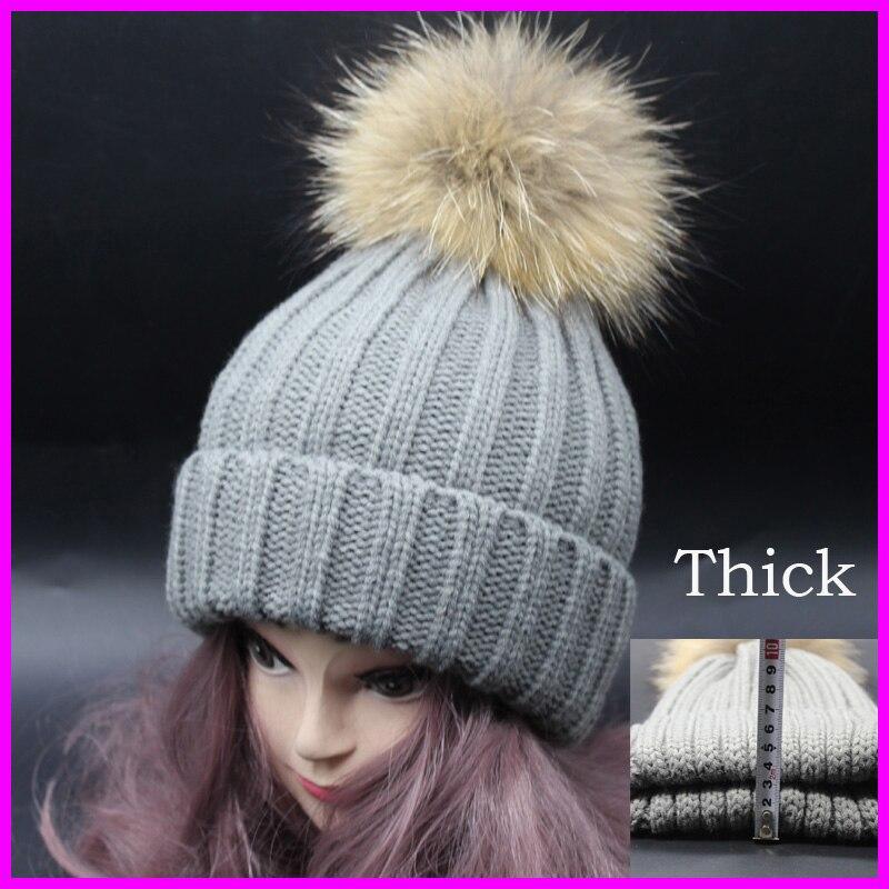 Womens Winter Russian Fur Hats Pom Poms Knitting Beanies Skullies Below Zero Warm Thick Mink Fur Hat For WomenОдежда и ак�е��уары<br><br><br>Aliexpress