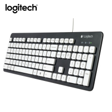 Logitech K310 Wired Keyboard Full Size Mute Real Waterproof Ergonomics Computer Laptop Keyboard