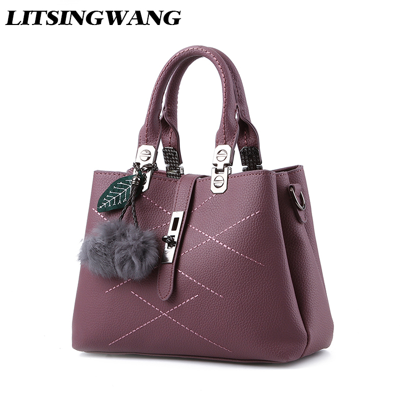 LITSINGWANG NEW Style For Girls Women Casual Totes Fashion PU Leather Handbag Soft Messenger Bags Solid Shoulder Bag Croddbody<br>