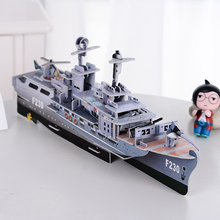 New Design Military Aircraft Carrier Model 3D Puzzle Jigsaw DIY Baby Educational Toys Ship Model 3D Puzzle Boys Nice Gift