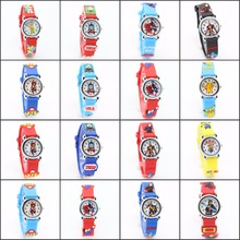 Drop shipping 3D Cartoon Lovely cars Kids Girls Boys Children Students Quartz Wrist Watch Very Popular watches style