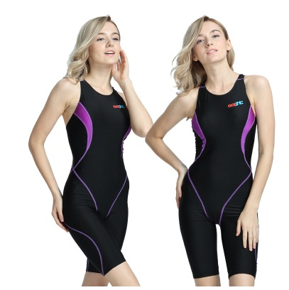 Women One Piece Brand Racing Competition Plus Size Swimsuit Professional Training Sexy Sport Knee Quick Dry Beach Bathing Suit <br>