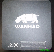 Wanhao i3 3D printer spare parts printing bed black color heated bed sticker heating plate print sticker black 200mm/214mm/220mm(China)