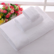 3pcs/set Embroidered White Hotel Towels Cotton Towel Set Face Towels Bath Towel For Adults High Absorbent Washcloths