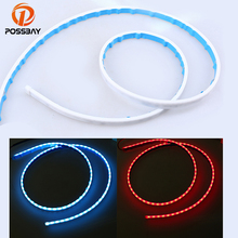 POSSBAY Car Flowing Tail Lights LED Braking Lamp Truck Turn Signal Running Light Led Strip Lamp Cars Rear Taillight(China)