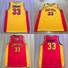 Cheap Men's Basketball Jerseys Kevin Durant Jersey 33 Stitched Shirt Oak Hill High School Throwback Basket Jerseys Free Shipping(China)