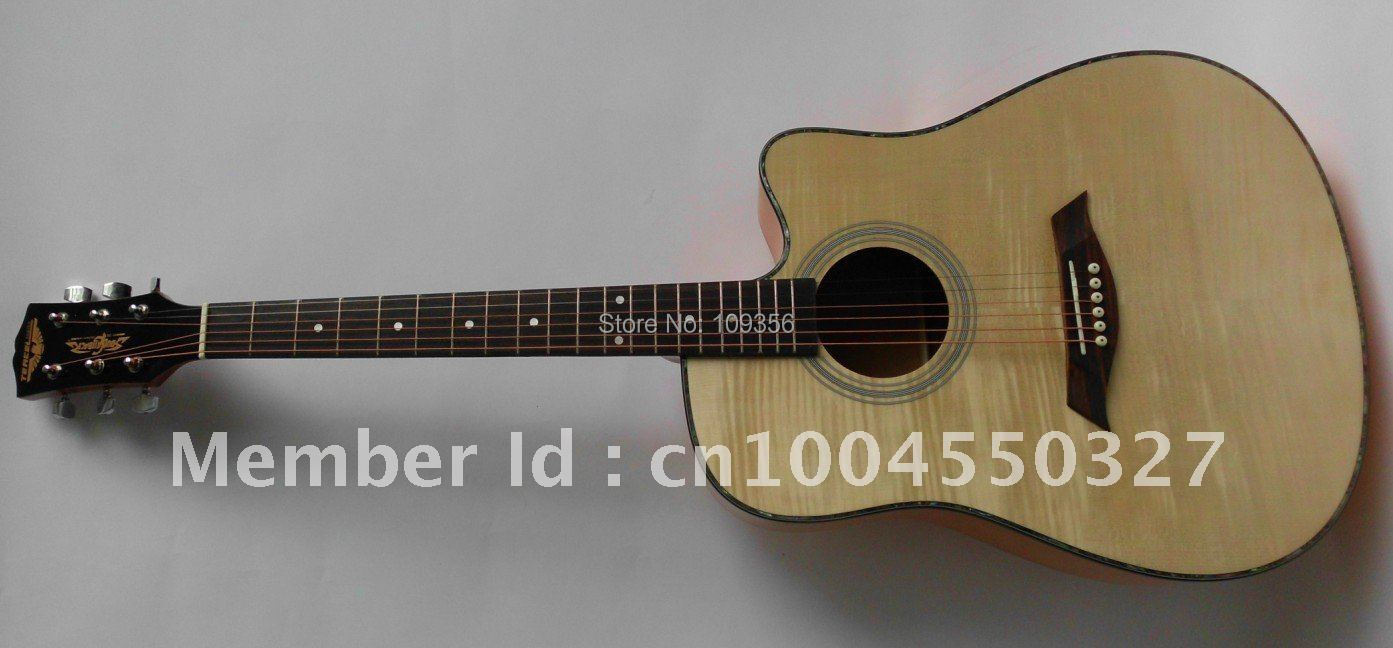 flame spruce folk guitar with free string<br><br>Aliexpress