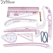10 Styling Design Ruler French Curve Set Cutting Ruler Yardstick Sleeve Arm French Curve Cut Cutting Knife Ruler Sewing Tools