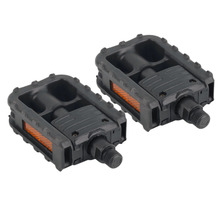 Universal Plastic Mountain Bike Bicycle Folding Pedals Non-slip Black free shipping