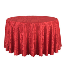 10PCS/LOT White Table Cloth For Hotel Wedding Banquet Round Tablecloths Decor Jacquard Dining Table Cover Table Linens Wholesale