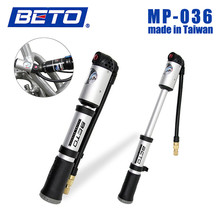BETO Aluminum 300psi Ultra-light Bicycle Pump 202g Shock Absorber / Tire Combo Portable Bike Pump MP-036 Suspension Accessories(China)