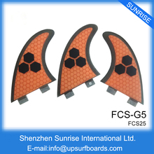 FCS Fins G5 Surfboard FCS M Size Orange Honeycomb Fin FCS Quilhas in Surfing