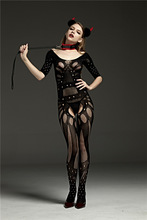 Buy Nightwear SM Costume Women Lingerie Crotchless Body Suit Transparent Exotic Fishnet Body Stocking Suit Sexy Lingerie