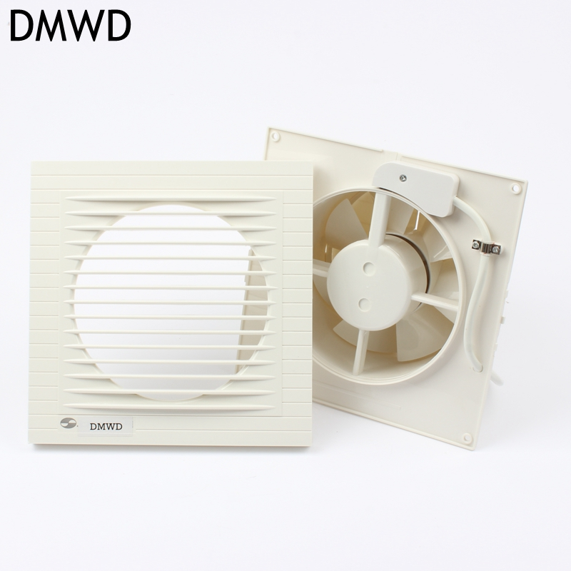 DMWD kitchen ventilator 6 inch Ultrathin advanced ABS cover High - quality copper kitchen bathroom  ventilator exhaust fans<br>