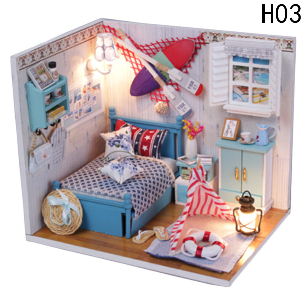 Wholesale Baby Room Home Decoration Doll House Model Furniture Diy ...