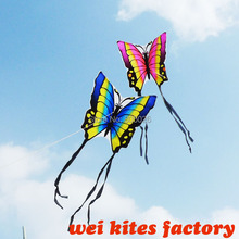 free shipping high quality butterfly lovers 20pcs/lot nylon ripstop fabric with handle line couples easy control wei kites