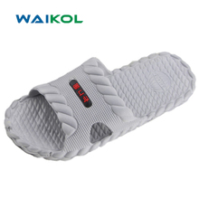 Waikol Hot Marketing Summer Bathroom Sandals Indoor Home Slipper Fashion Men Shoes(China)
