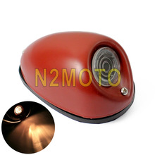 Motorcycle Side Fender Mount Car Caution Light 12V Front Sidecar Light for Zundapp KS750 K750 BMW M1 R75 R66(China)