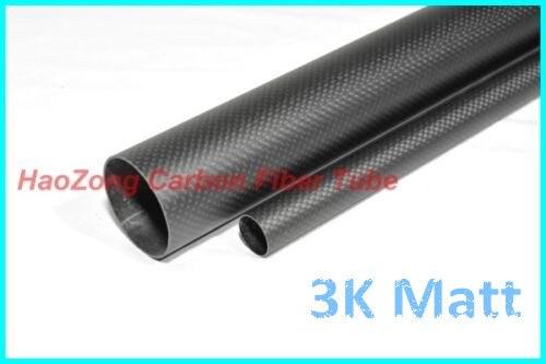Roll Wrapped Matt 1 x OD 15mm x ID 13mm x Length 800mm 3k Carbon Fiber Tube
